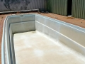 Fibreglass pool prepared for paitning 02