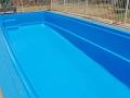 Figreglass pool painted EPOTEC Tasman - Dark Blue 02