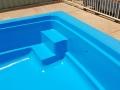 Figreglass pool painted EPOTEC Tasman - Dark Blue