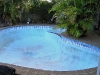 Old rendered and painted pool