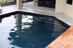 Pools painted with Black