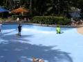 Epotec being applied to resort pool