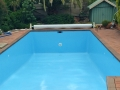 EPOTEC Bondi Mid Blue on fibreglass pool