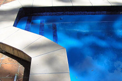 Pools painted with  Royal blue (Pacific) colour