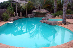 Pools painted with Pale Jade colour