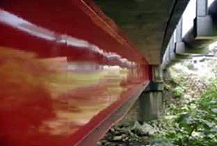 Bridge painted in fluoropolymers after 15 years
